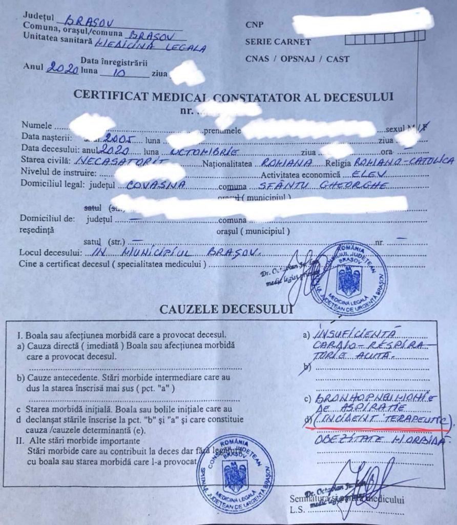 Caz incredibil în Brașov: Un adolescent de 15 ani ar fi decedat din cauza neglijenței medicale